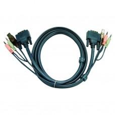 Aten 2L-7D03UD USB DVI-D Dual Link KVM Cable 3m