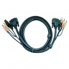 Aten 2L-7D03UI DVI-I Single Link KVM Cable 3m