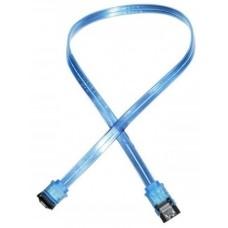 Akasa S-ATA Kabel met gehoekte aansluiting. UV-Blue. 60cm