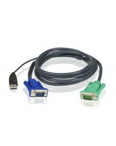 ATEN 2L-5201U 1.2M USB KVM Kabel met 3 in 1 SPHD