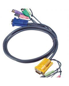 ATEN 2L-5302P 1.8M PS/2 KVM Kabel met 3 in 1 SPHD en Geluid