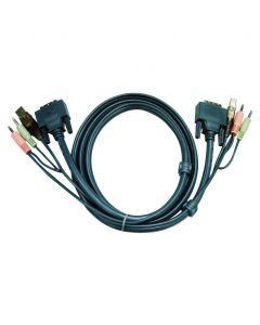 ATEN 2L-7D05U 5M USB DVI-D Enkelvoudige Link KVM Kabel