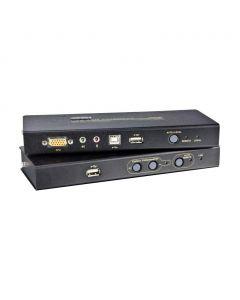 ATEN CE800B USB VGA/Geluid Cat 5 KVM Verlenger met USB Stick Opslag (1024 x 768@250m)