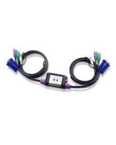 ATEN CS62A 2-Port PS/2 VGA KVM Switch with Audio